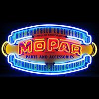 Mopar Parts Vintage Shield Neon Sign 5mprvs W/ Free Shipping