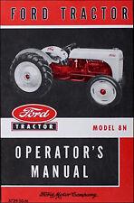 Ford Tractor Model 8n Operator Manual 1948 1952 Operators Guide Book