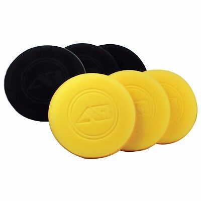 "Autobright Extra Large 5"" Car Wax Polish Deluxe Foam Applicator 3 Black 3 Yellow"