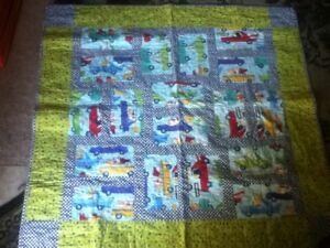 43-034-Handmade-Blanket-Baby-Child-Toddler-Quilt-Taxi-Car-Animal-Zebra-Roost-Rabbit