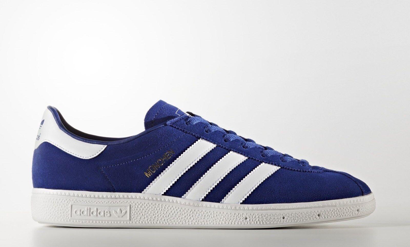 Adidas Originals Munchen blu/bianco Scarpe Scarpe blu/bianco da ginnastica Uomo 7.5 _ 8.5 _ 9 _ 9.5 _ 10 _ 10.5 b6eb87