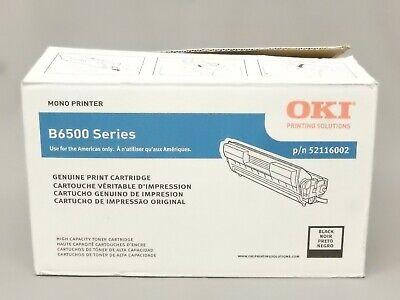 Oki 52116002 High Capacity Toner Cartridge B6500 Genuine OEM