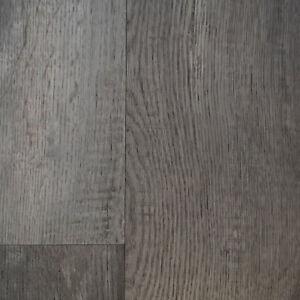 rustic grey wood plank effect 2.8mm vinyl flooring lino