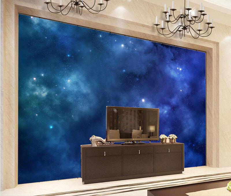 3D Ciel Nocturne 8 Photo Papier Peint en Autocollant Murale Plafond Chambre Art