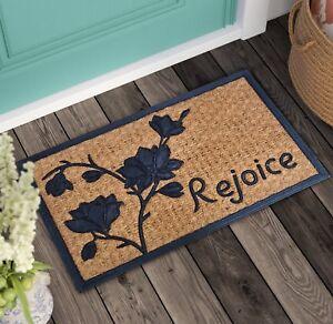 Holiday Non Slip Indoor Outdoor Coir Door Mat For Entrance Patio