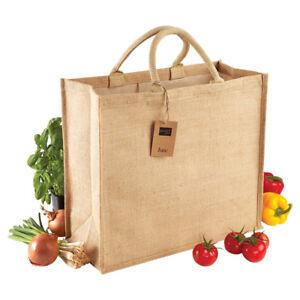 Westford-Mill-Eco-Friendly-Jute-Jumbo-Shopper-Natural-Ladies-Handbags-Bag-4-Life
