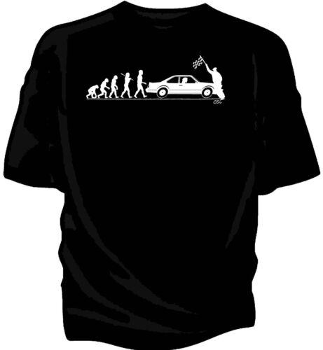"""/""""evolution of man /'Drapeau à Damiers Start T-Shirt-Classique Voiture BMW 635CSi"""