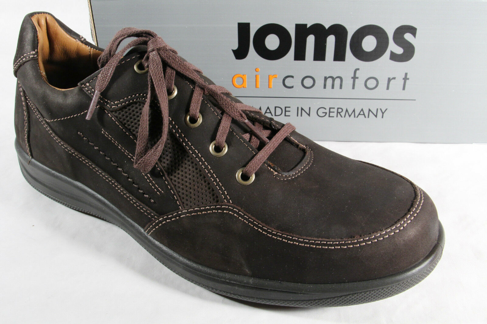 Jomos Schnürschuhe Halbschuhe Sneakers atmungsaktives Wechselfußbett Leder NEU