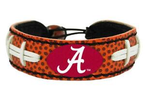Alabama Crimson Tide NCAA Genuine Leather Adjustable Football Bracelet Jewelry