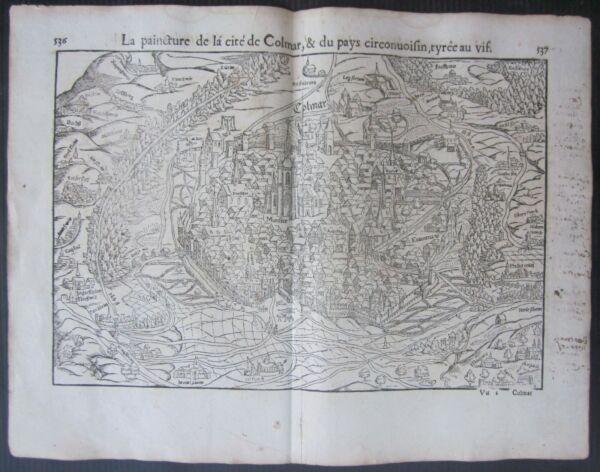1568 Colmar Cosmographia Universalis Munster Kolmer France Francia Le Materie Prime Sono Disponibili Senza Restrizioni