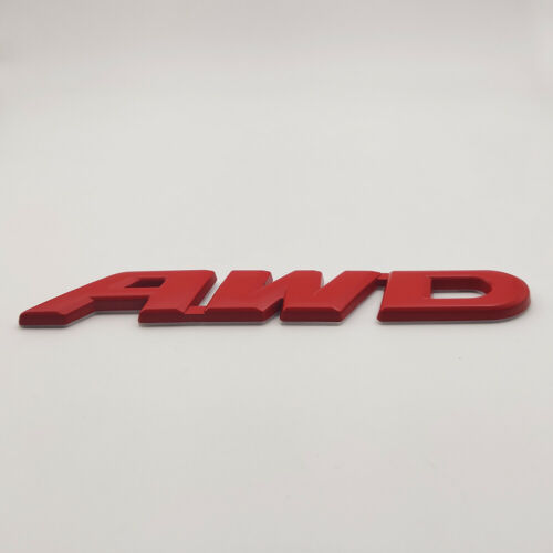 Red AWD Logo Emblem Large All-Wheel Drive Badge 3D Metal Sticker OFF Road Decal