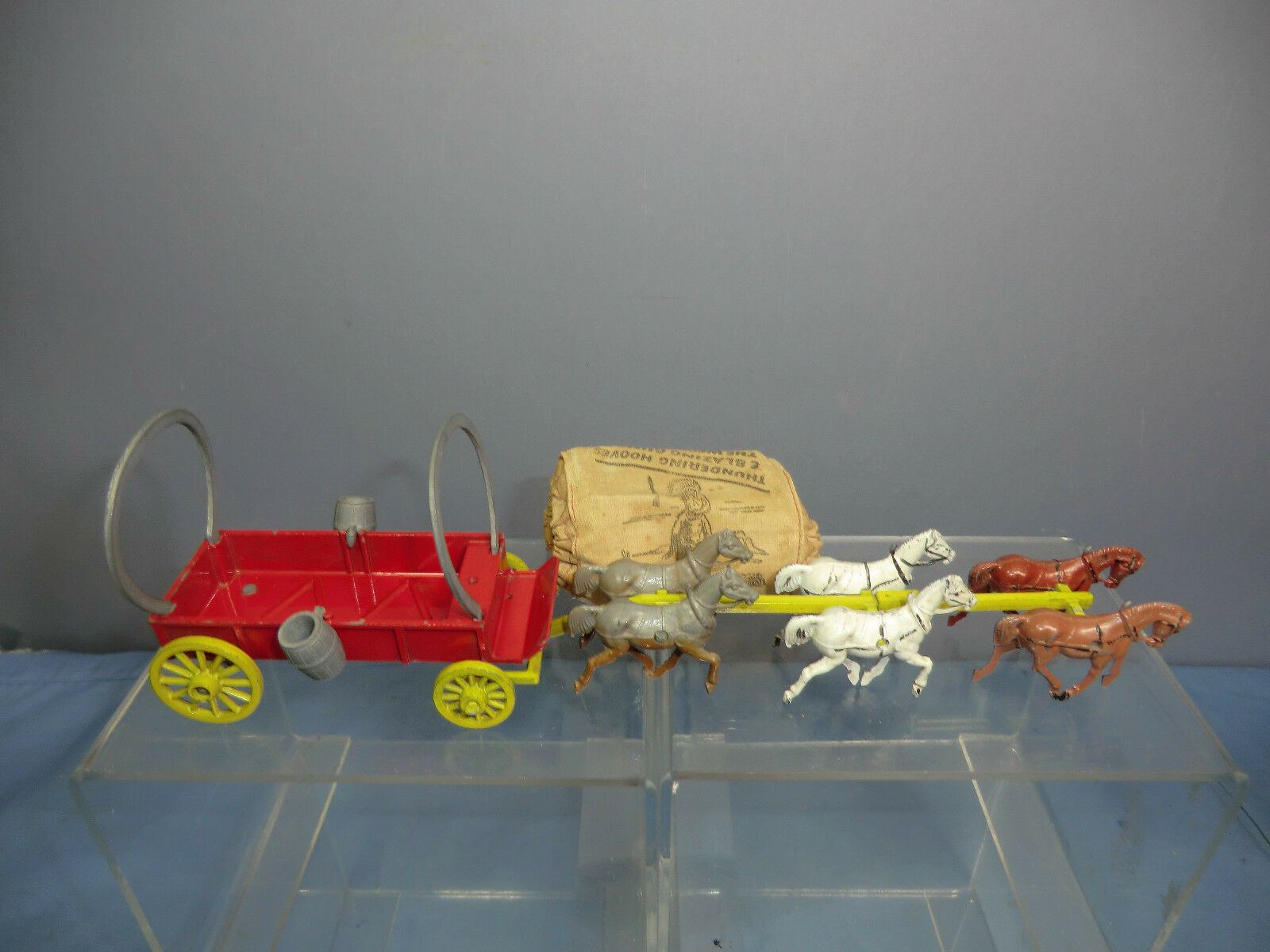 VINTAGE BUDGIE MODEL No.XXX   6 HORSE DRAWN  COVERED WAGON     ( RARE VERSION )