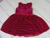 Autograph Girls Magenta Striped Tank Dress Size 12-18 Months - A1512