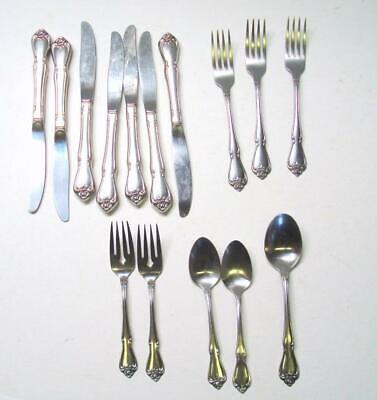 """Oneida Rogers ARBOR ROSE-TRUE ROSE  *2 Dinner Forks* 7 1//4/""""  Stainless Flatware"""