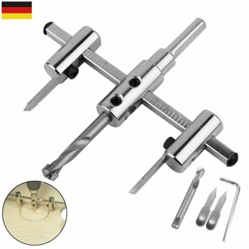 Kunststoff Gipskarton Verstellbar Lochsäge Kreisschneider für Ø 40-120mm Holz