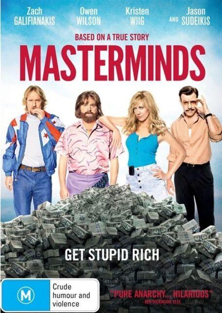 Masterminds DVD Owen Wilson-Zach Galifianakis-Jason Sudeikis-Kristen Wiig NEW