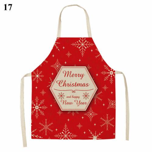 Christmas Apron Home Kitchen Baking Cooking Accessories Linen Plaid Apron 47*38