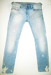 HOT-Men-039-s-DIESEL-THAVAR-880M-Slim-SKINNY-LIGHT-DISTRESS-Denim-Jeans-34-x-34