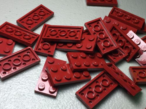Lego 2x4 Plate Dark Red Lot of 25 New Authentic 3020 Building Plates