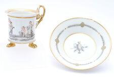 Sevres Prunk Tasse Klassizismus Empire Allegorie Putto Engel Frankreich c. 1800