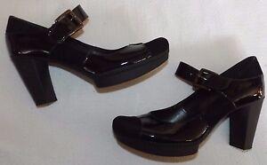 in scamosciata da pelle tacco Clarks Heel largo e Eur 39 Scarpe nera Mary con Uk 3¼ Shoes Jane Block 6 xZxz7S8