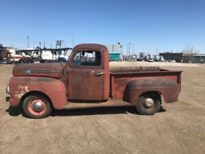 1951 FORD MERCURY M1 HALF TON SHORTBOX PICKUP TRUCK for Restore.