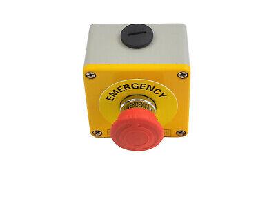 Telemechanique E Stop Emergency Stop 5 piece 12V or 24V metal casing suits 240V.
