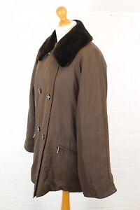 MAXMARA-Faux-Fur-Collar-Brown-COAT-Size-UK-10-IT-42-MAX-MARA