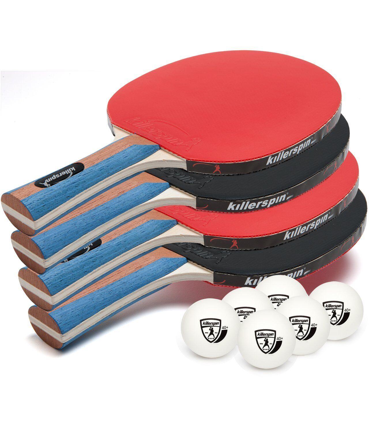 Nuevo Killerspin 112-02 Jet Set 4 Premium Paleta de tenis de mesa set con bolas