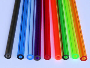 clear plastic tubes 9 colors 1 2 quot od x 1 4 quot id clear acrylic blue 29214