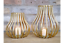 Metal-Votive-Candle-Holder-Gold-Hurricane-Lantern-Style-Large thumbnail 1