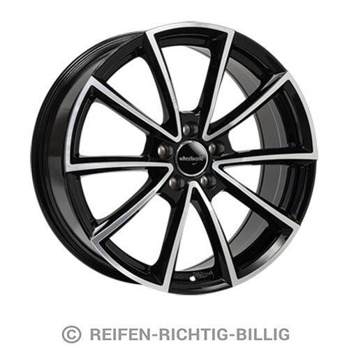 Alufelge Wheelworld WH28 8,0x20 ET45 schwarz hochglanzpoliert
