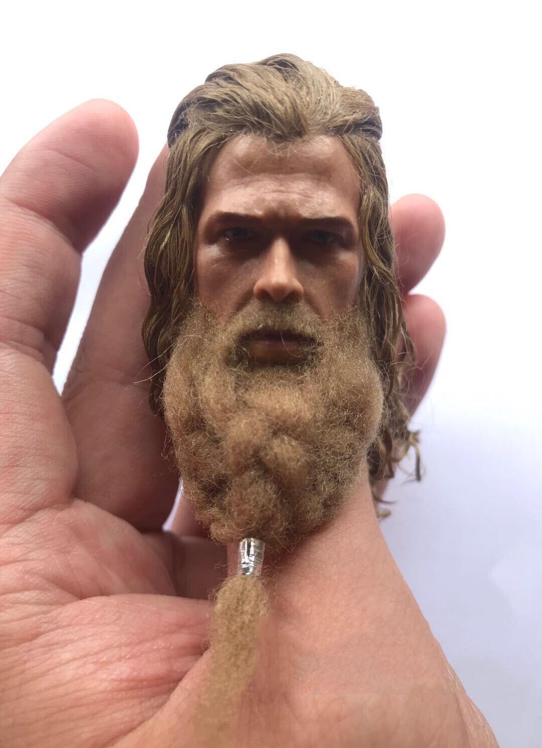 1 6 Thor Odinson Head Sculpt Avengers  Endgame for 12   Figure