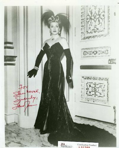LANA TURNER SIGNED JSA CERTED 8X10 PHOTO AUTOGRAPH