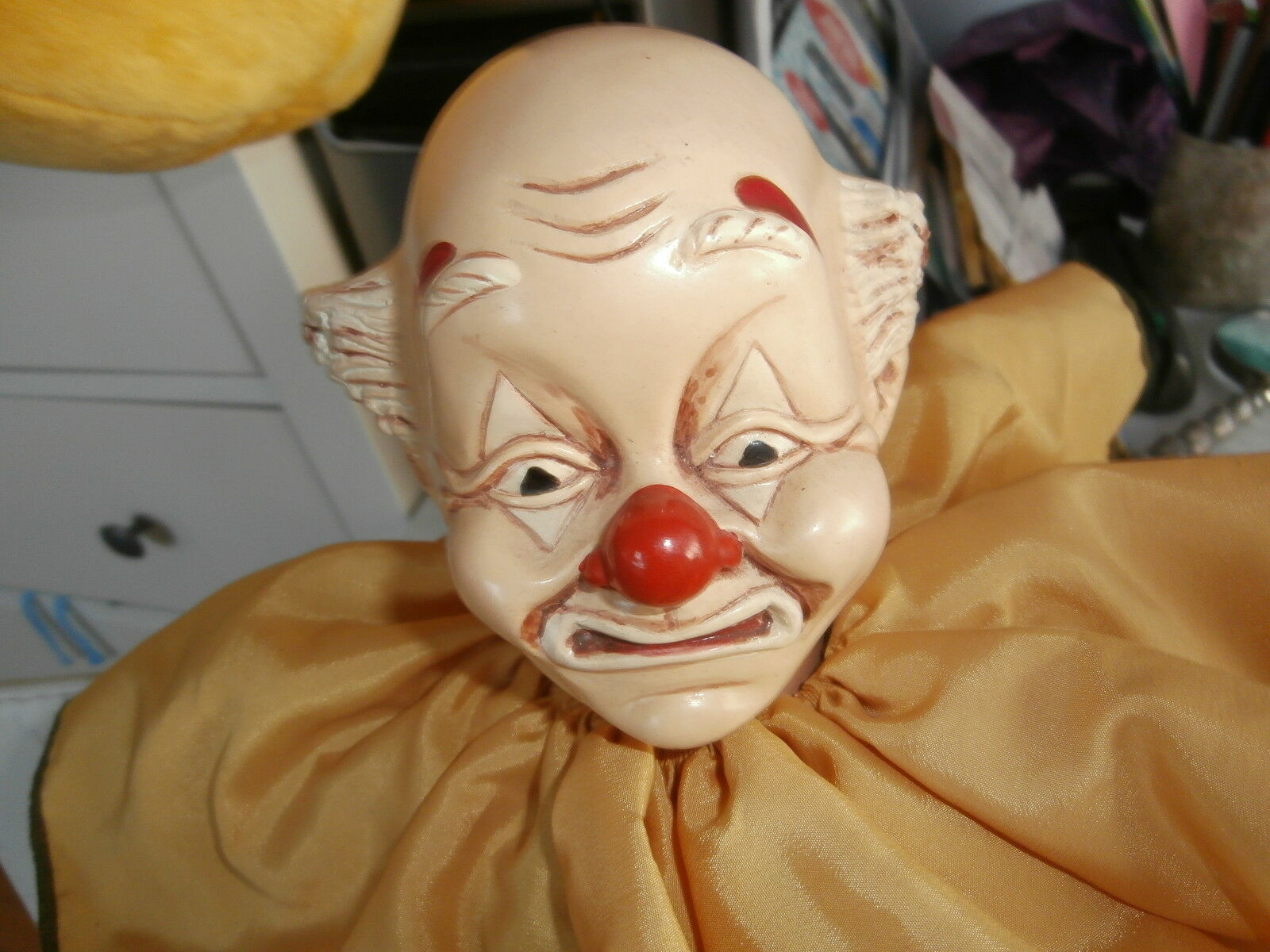 BRINN'S COLLECTIBLE LIMITED EDITION 341 5000 HAND MADE MUSICAL CLOWN DOLL