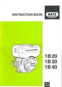 hatz diesel engine 1b20 1b30 1b40 operators manual ebay rh ebay ie Hatz Diesel Service Manual Hatz Workshop Manual Ser 1021202014595
