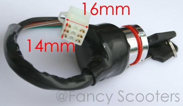 Ignition Switch Key 6 Wire 50cc 70 90 110 125cc Atv Kazuma