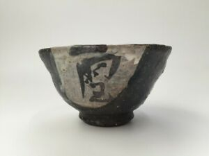 Japanese-Pottery-Tea-Ceremony-Bowl-Chawan-Vintage-Hand-Paint-Matcha-Cup-Y470