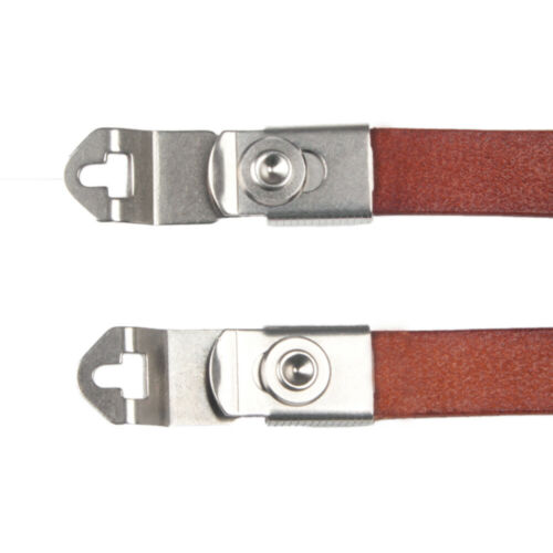Genuine Leather Strap With Lugs For Rolleiflex MX-EVS Rolleicord VB TLR Camera R