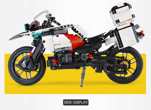 New 1075PCS The Patrol Motorcycle Set Building Blocks Bricks Educational toys