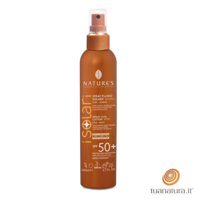 Nature's iSolari SPRAY FLUIDO SOLARE BIMBI SPF 50+ 200 ml