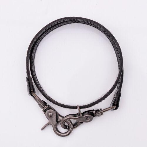 """23.5/"""" Handmade BK Leather Strap Trucker Biker Key Jean Wallet Chain Trigger Hook"""