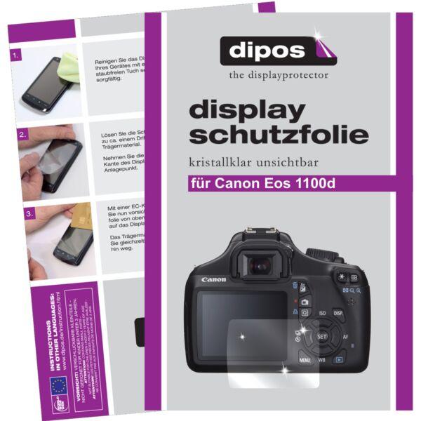 6x Canon Eos 1100d Film De Protection D'écran Protecteur Cristal Clair