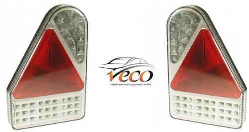 MAYPOLE SLIM 12-24V LED RIGHT LEFT REAR COMBI MULTI FUNCTION TRAILER LAMPS SET