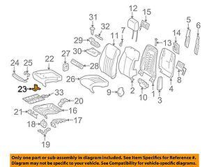 MERCEDES OEM 06-12 R350 Front Seat-Seat Cushion Clip 2029882278