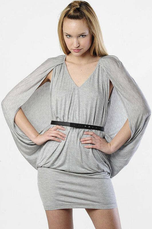 Sexy New ROBERT RODRIGUEZ Grecian Cocoon Belted Jersey Dress MEDIUM
