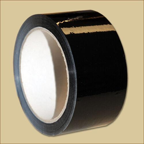 18 Klebeband Rollen 50 mm x 66 m SCHWARZ PP Leise abrollbar schwarz Packband