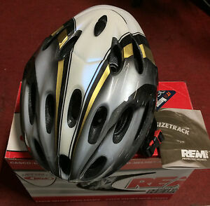 Casco-bici-corsa-Rem-Line-R3200-Gold-road-bike-helmet-Unisize-54-61-cm-oro-nero