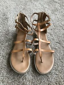068435430a34 Image is loading Women-s-Size-9-Old-Navy-Tan-Gladiator-