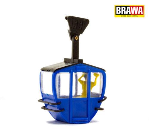 + NUOVO IN SCATOLA ORIGINALE blu con personaggio BRAWA 6282 FUNIVIA-cabina singolarmente